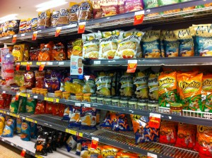 wall of chips