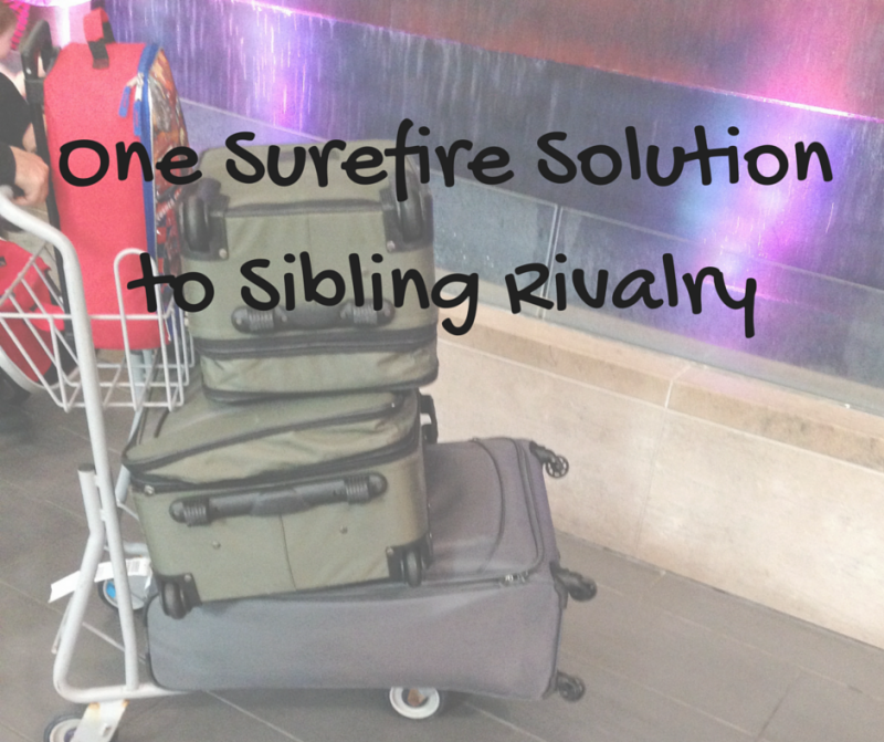 "Image of text ""One Surefire Solution to Sibling Rivalry"