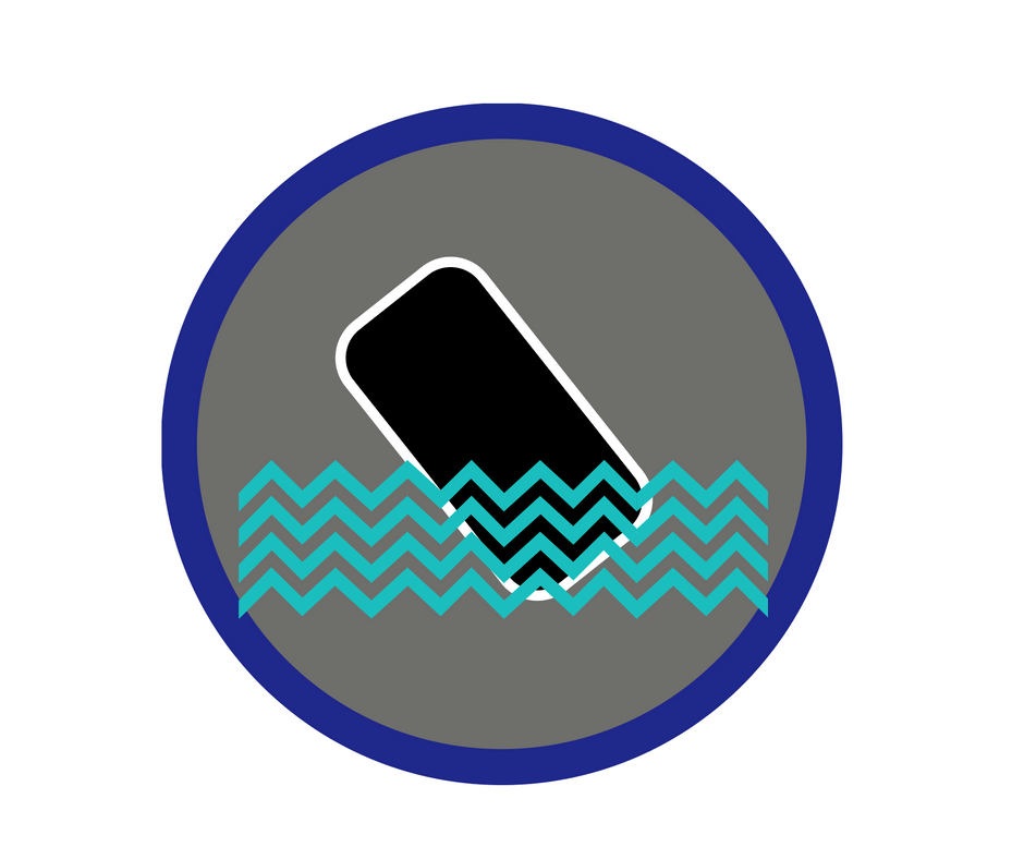 Image of a phone in the water