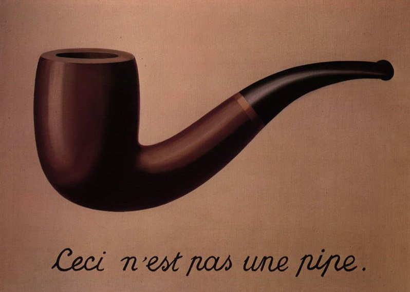 Rene Magritte's Treachery of Images